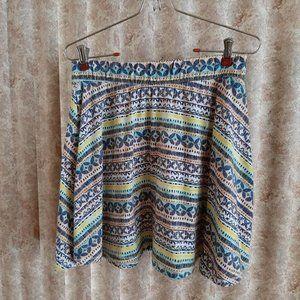 Mossimo striped miniskirt size Large